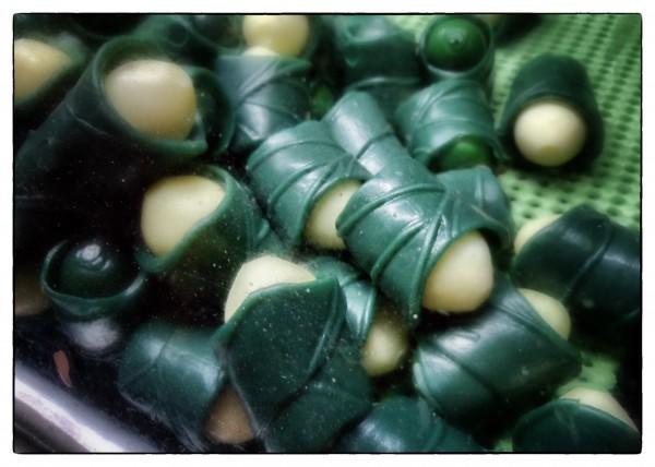 Areca-wrapped betelnut